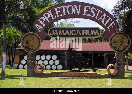 Appleton Estate rum factory - Stock Photo