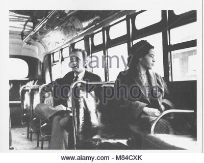 Rosa Louise McCauley Parks (February 4, 1913 – October 24, 2005) was an activist in the Civil Rights Movement, whom - Stock Photo