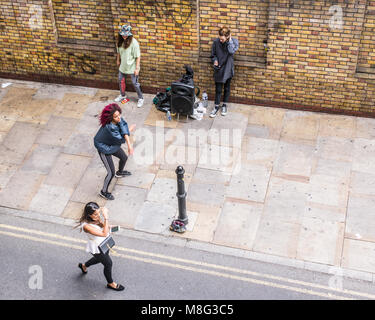 people watching break dance street performance berlin germany april stock photo 18260166 alamy. Black Bedroom Furniture Sets. Home Design Ideas