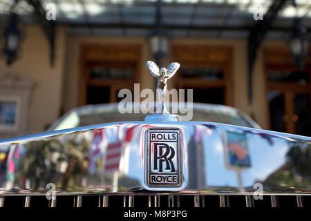 Bonnet Mascot Of Rolls Royce Car At Casino Monte Carlo Place Du