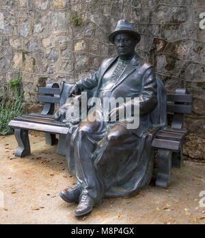 Partenit, Russia - November 12, 2015: Sculpture Khrushchev area of medical health complex 'Ayvazovskoe', Crimea - Stock Photo