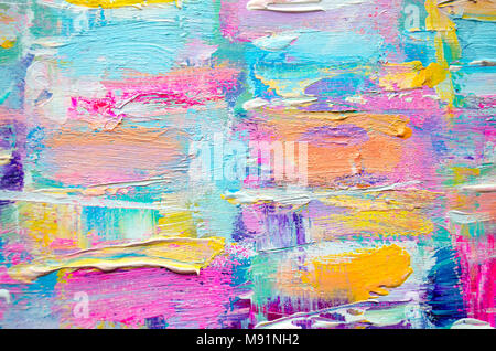 Hand drawn acrylic painting. Abstract art background. Acrylic painting on canvas. Color texture. Fragment of artwork. Brushstrokes of paint.Modern art - Stock Photo