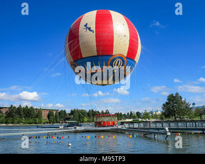 MARNE-LA-VALLEE, FRANCE - July 29th, 2016 – The PanoraMagique Balloon is Disney Village at Disneyland Resort Paris - Stock Photo