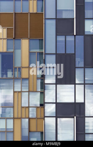 Abstract view of Offices building in North Greenwich, London - Stock Photo