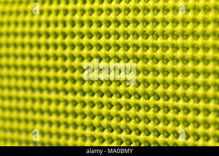 Close up detail of yellow skid mat - Stock Photo