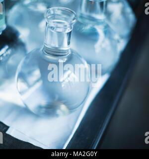 A carafe of fresh water in the restaurant 'Septime', Paris - Stock Photo