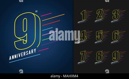 1st anniversary celebration card template stock vector art