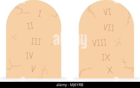 ... Two Stone Tablets With Ten Commandments   Stock Photo