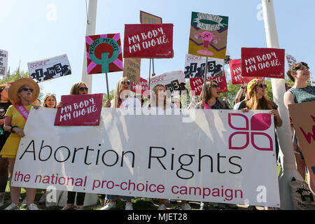 London, UK. 5th May, 2018. Pro Life demonstration and march to Parliament Square from the De Vere Connaught Rooms in Holborn. At the same time a Pro-Choice demonstration took place in Parliament Square. Penelope Barritt/Alamy Live News - Stock Photo