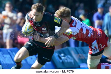 Allianz Park, London, UK. 5th May, 2018. 05.05.2018 AVIVA Premiership League Saracens v Gloucester at Allianz Park UK Action during the match which was won by Saracens 62-12 Credit: Leo Mason sports photos/Alamy Live News - Stock Photo