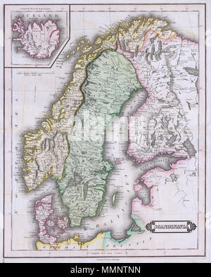 map maps Scandinavia Denmark Norway Sweden Finland Belarus Estonia