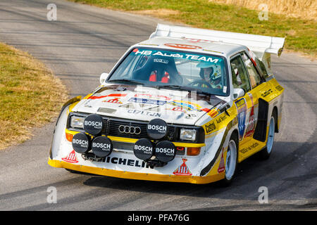 1985 Audi Sport Quattro S1 E2 Group B Rally Car In The Paddock At