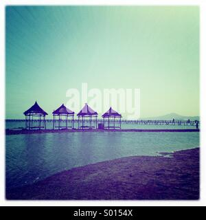 Egyptian beach in sharmel shake. - Stock Photo