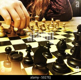 Playing chess - Stock Photo