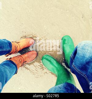 Boots on the beach - Stock Photo
