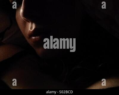 Shadow and light, at night - Stock Photo