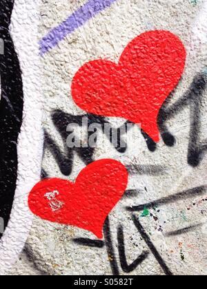 Heart graffiti - Stock Photo