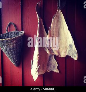 Fish drying stock photo royalty free image 89348381 alamy for Salted cod fish near me