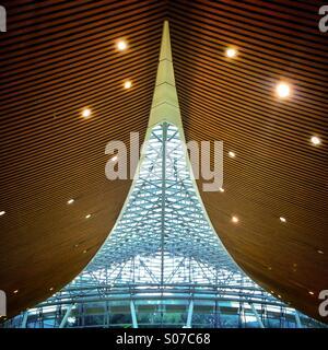 Interior of Kuala Lumpur International Airport Malaysia - Stock Photo