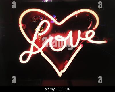 Love-neon sign - Stock Photo