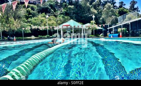 Woman Swimming Laps In Pool Stock Photo Royalty Free Image 56793654 Alamy