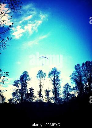 Hand gliding - Stock Photo