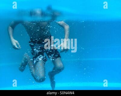 Little boy swimming in the pool Beirut Lebanon - Stock Photo
