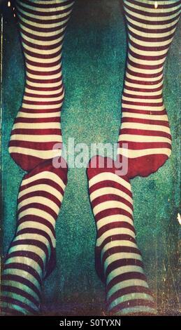 Striped socks - Stock Photo