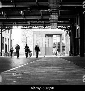 Granary Square, London Kings Cross. - Stock Photo