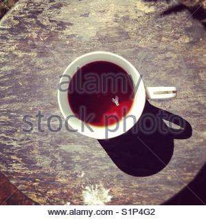 Fly in drink - Stock Photo