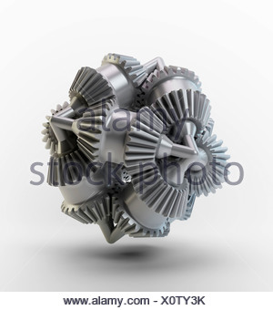 Gear wheels, artwork - Stock Photo