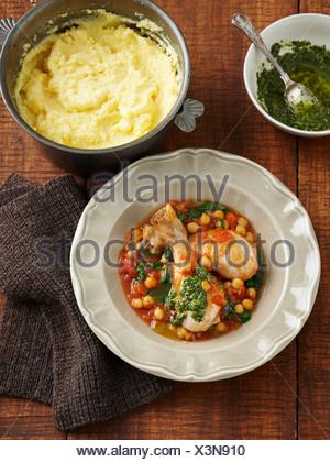 Mediterranean Chicken With Vegetable Stock Photo   Alamy