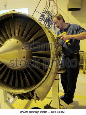 perry palhamus a dyncorp international c 21a aircraft mechanic dismantles a turbine engine