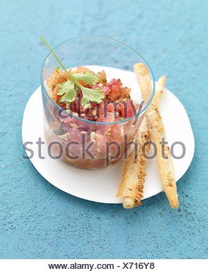Tuna Tartare - Stock Photo