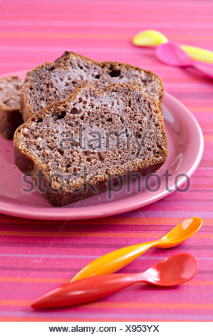 Raspberry chocolate cake - Stock Photo