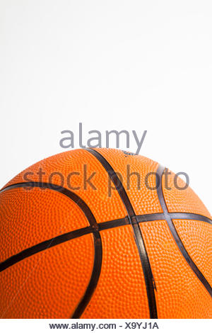 Close up of a basketball - Stock Photo