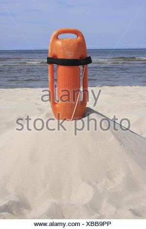 float of Baywatch, Baltic Sea, Germany - Stock Photo