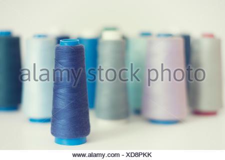 Reels of Cotton thread - Stock Photo