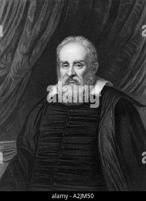 GALILEO GALILEI (1564-1642) italienischen Mathematiker Astronom und Physiker - Stockfoto
