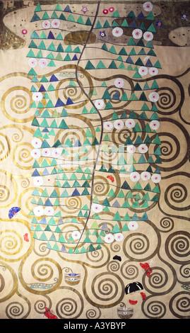 """""""Bildende Kunst, Klimt, Gustav, (1862-1918), Malerei,""""Lebensbaum"""", (""""Baum des Lebens""""), ca. 1905 / 1909, verschiedene - Stockfoto"""