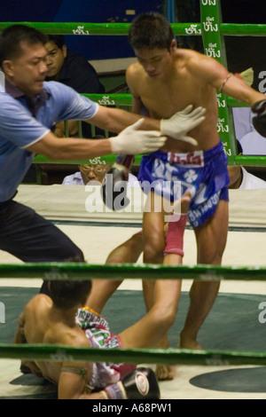 Muay Thai - auf der Leinwand - Stockfoto