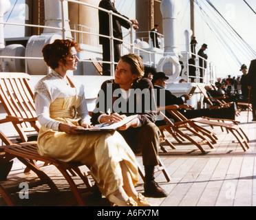 TITANIC-Oscar-prämierten 1997 TCF Film mit Leonardo DiCaprio und Kate Winslett - Stockfoto