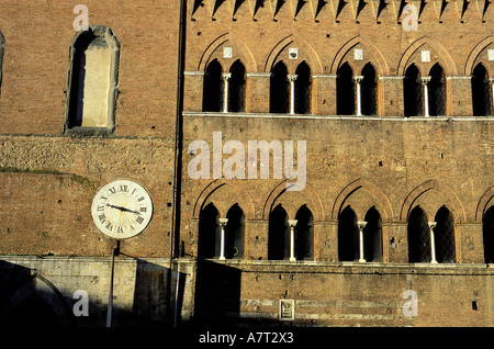Italien, Toskana, Siena, Santa Maria della Scala Krankenhaus auf dem 9. Jahrhundert gebaut - Stockfoto