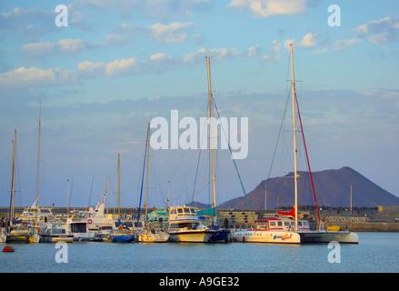 Corralejo (Isla de Lobos im Hintergrund), Fuerteventura, Kanarische Inseln, Spanien - Stockfoto