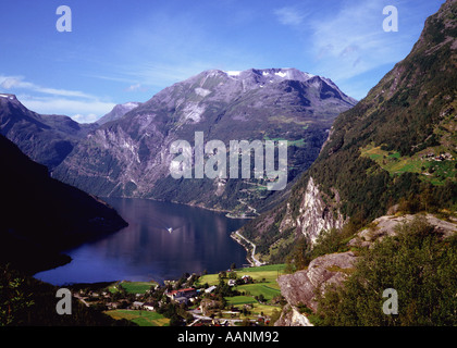 Gerainger-Fjord Norwegen - Stockfoto