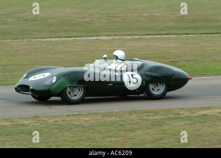 Lister Jaguar costin Sportwagen Motorsport Goodwood Revival Meeting 2003 West Sussex England Vereinigtes Königreich - Stockfoto