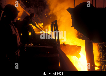 Stahl Ofen im Segel Steel Authority of India Ltd Werk Burnpur West Bengal Indien - Stockfoto