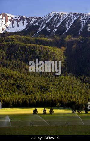 Ackerland in der Nähe von Joseph und Wallowa Mountains Oregon - Stockfoto