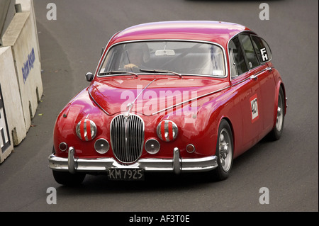 MkII Jaguar Classic Straßenrennen Dunedin Neuseeland Südinsel - Stockfoto