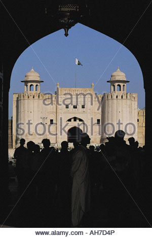 Pakistan, Punjab, Lahore, Fort, Bogen und Alamgiri-Tor - Stockfoto